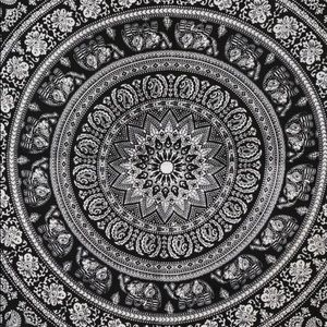 Other - Black and white boho tapestry